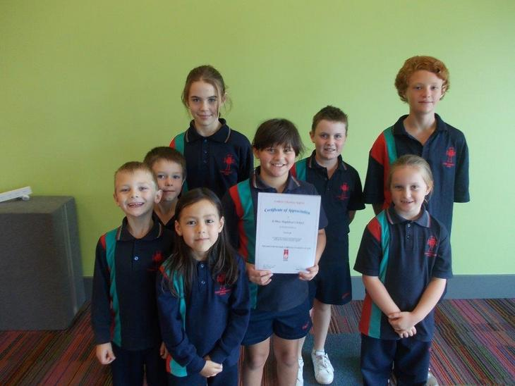 Mary Magdalene Student's with Certificate of thanks.jpg