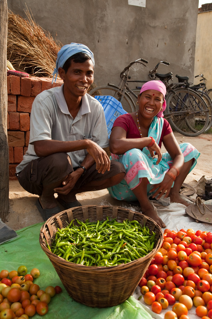 Kaluram and his wife Sita are now able to sell their surplus.jpg